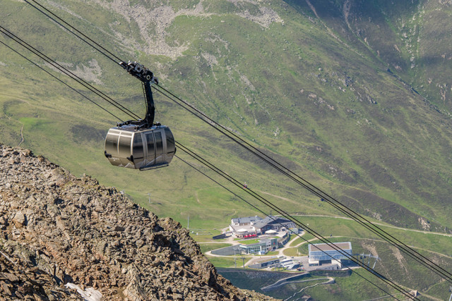 Some of the ever-changing views from the Gaislachkogl cable car that whips you up to the summit in just 12 minutes.