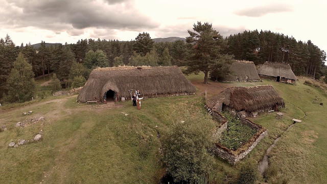 You might recognise the building on the left - inside is where Dougal urges the villagers to give money to the Jacobite cause.