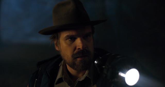 Hopper explores the tunnels.