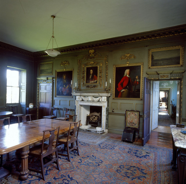 The dining room at Newhailes.