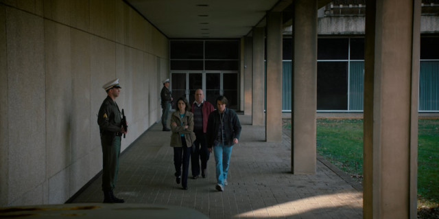 Nancy and Jonathan leave the lab...
