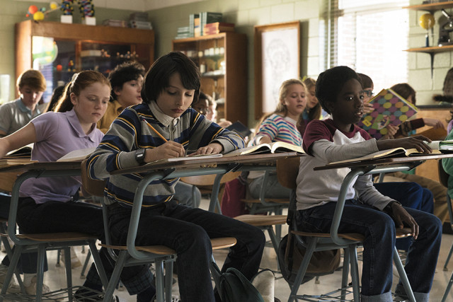 Will and Lucas in the classroom in Season 1.