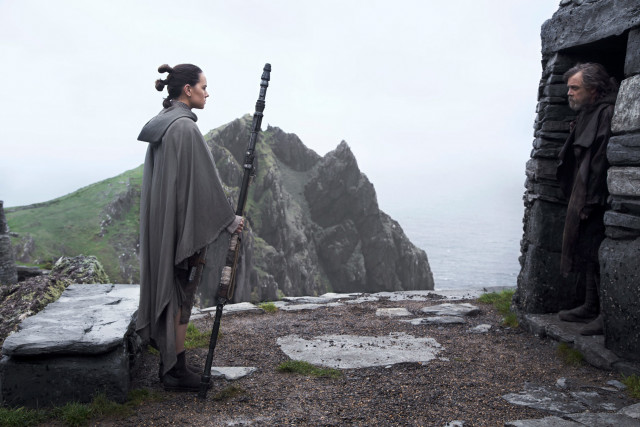 Rey confronts Master Luke about his refusal to train her.