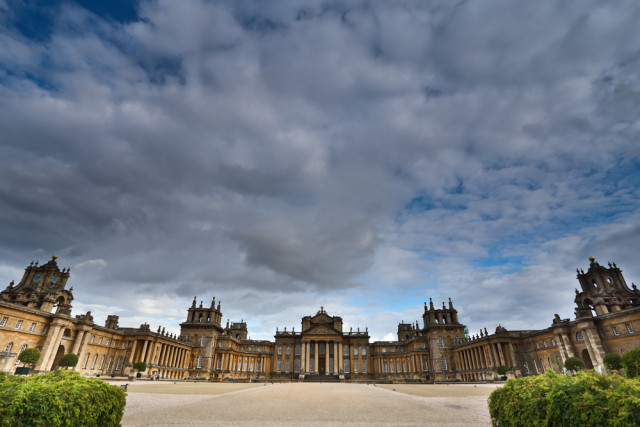The entrance to Blenheim Palace in the UK which stood in for the Palazzo Cardenza in Rome.