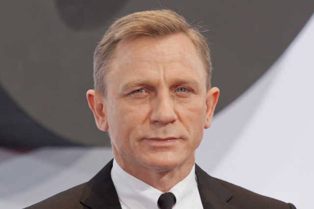 Meeting Daniel Craig during the Skyfall premiere in Berlin on 30 October 2012.