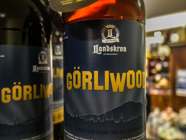 The Görliwood beer can be purchased in the brewery shop. It's quite strong and only comes in one-litre bottles - we're in Germany after all. Na dann, Prost!