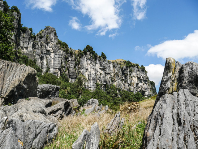 The limestone bluffs above the Denize family farm play a promintent role in An Unexpected Journey.