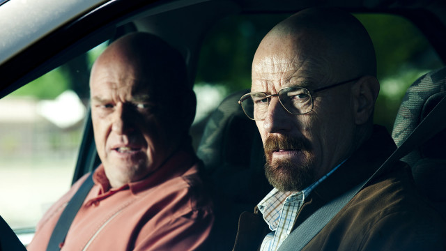 Our conflicted anti-hero Walter White and his brother-in-law Hank.