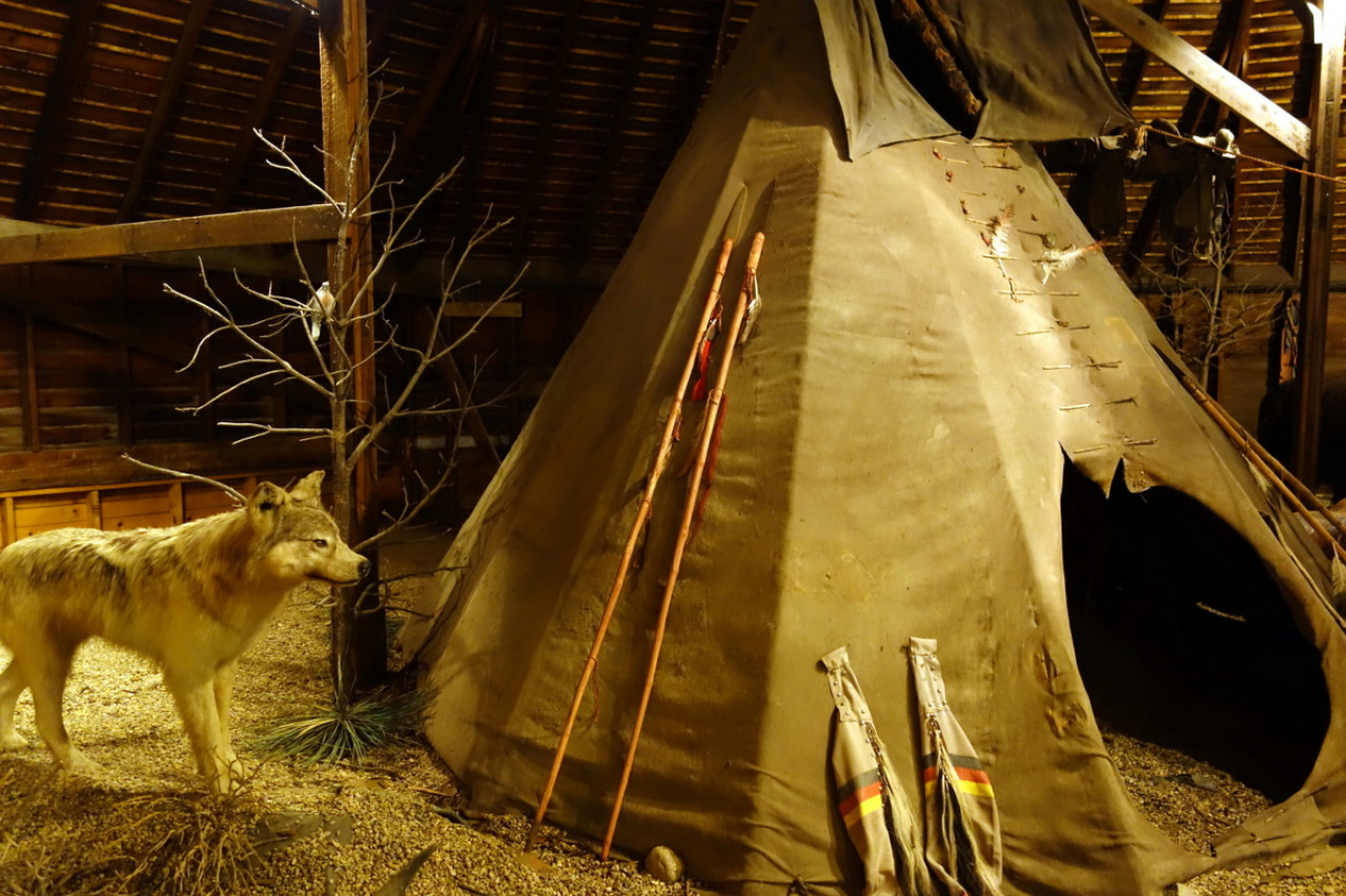 It also showcases one of the tippis used in Dances With Wolves...