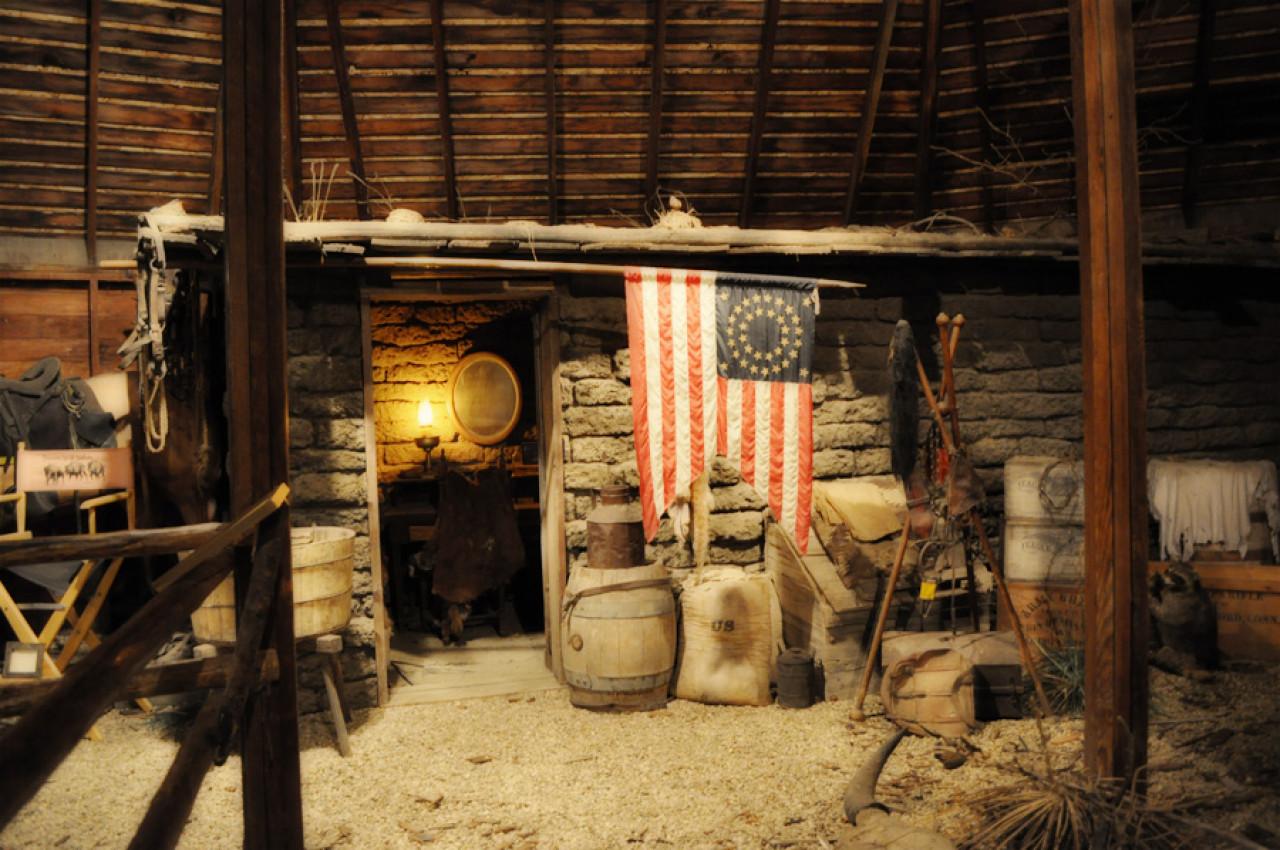 ...and a recreation of Lieutenant John Dunbar's sod house.
