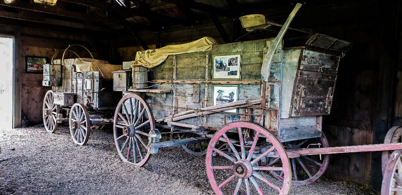 Timmon's freight wagons. These were used during John Dunbar's journey from Fort Hays to his remote outpost - Fort Sedgewick.