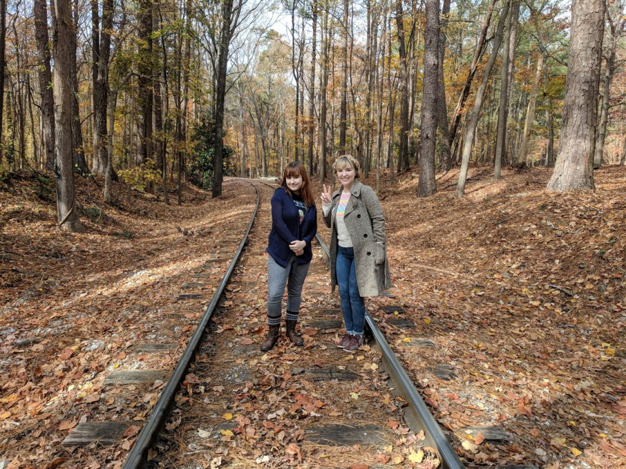 Here's Tori and Ash from The Upside Down podcast on location.