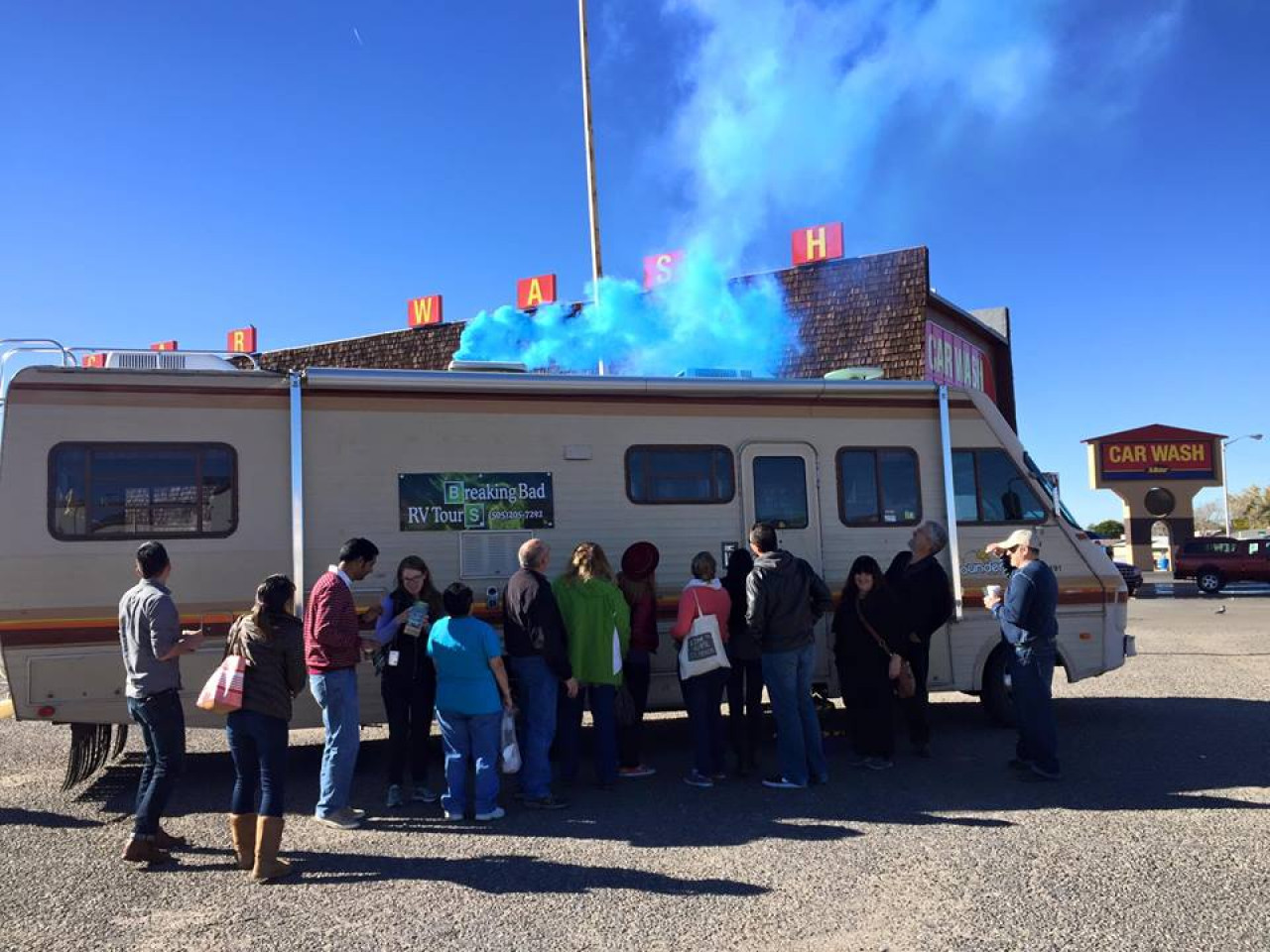 There might be blue smoke coming out of the RV, but don't worry, this tour is all above board.
