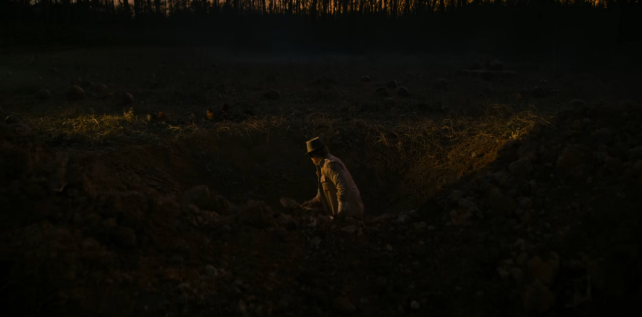 In Episode 5: Dig Dug, Hopper returns to the patch and starts digging a massive hole which leads to the Upside Down tunnels that run underneath Hawkins.