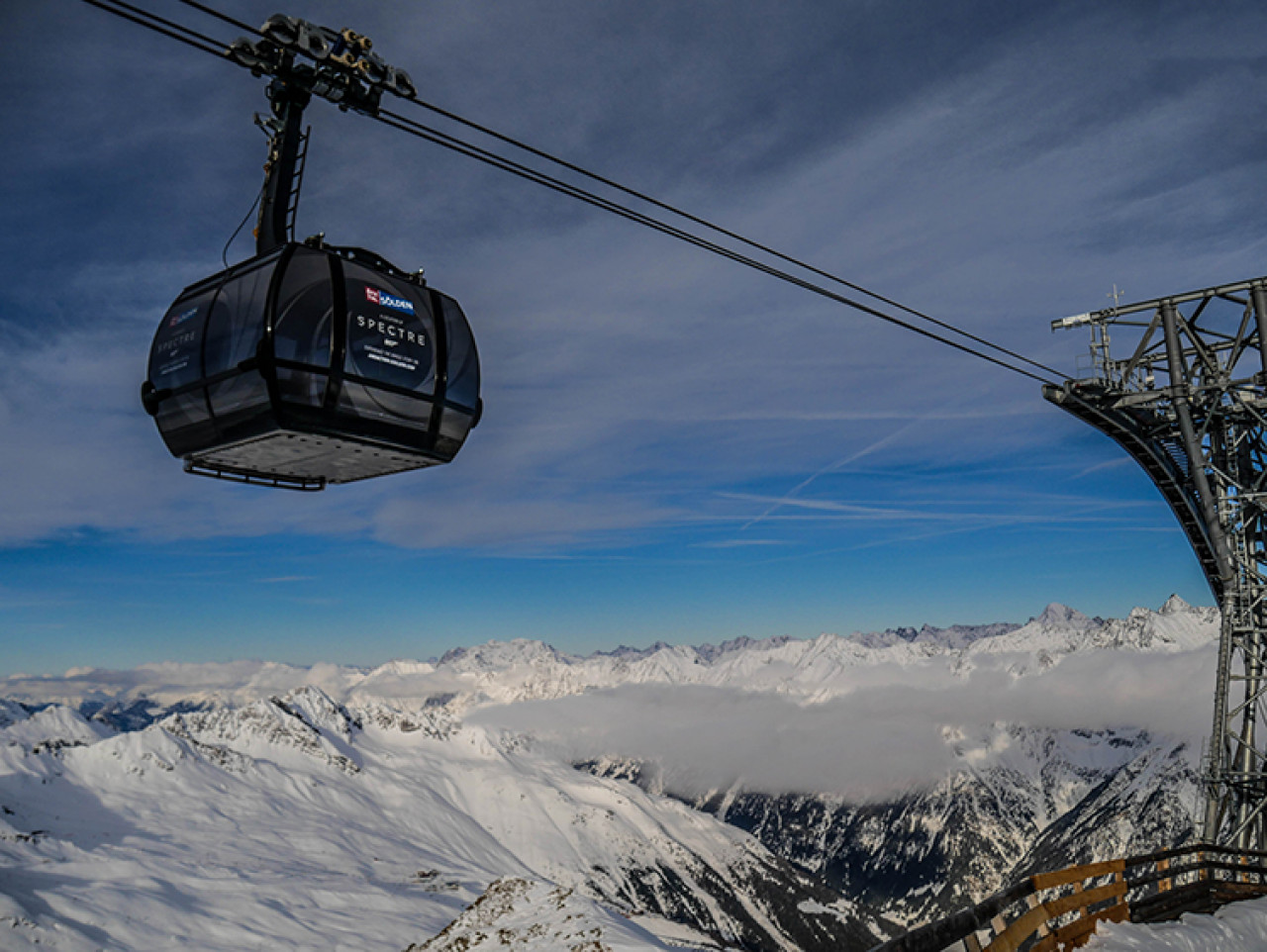 The Gaislachkogl cable car was opened in 2010 and is one of the highest of its kind.