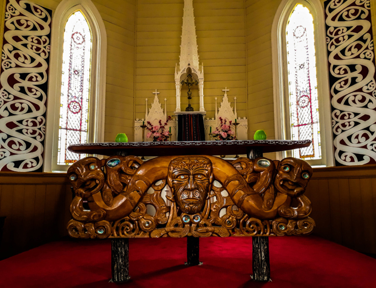 The altar inside St. Joseph's church.