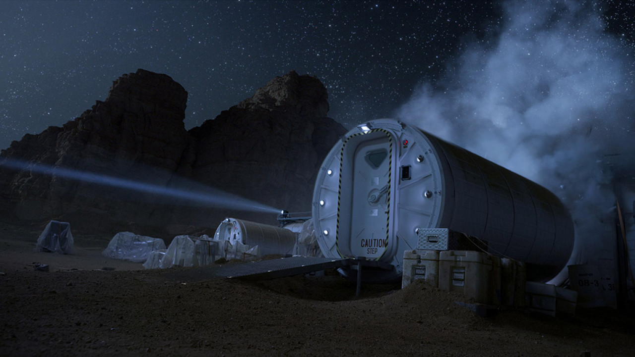 The research station in Wadi Rum - Mark Watney's home for many years.