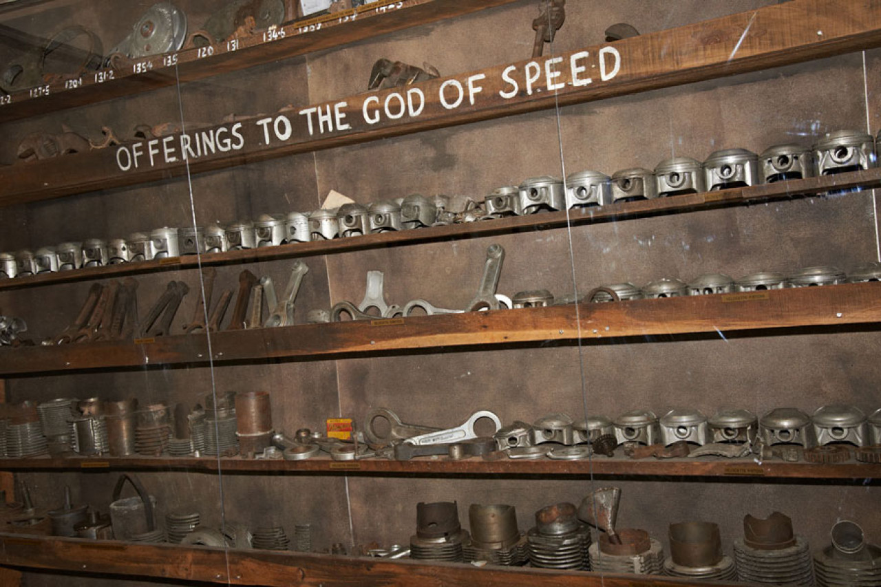 A selection of bike parts Burt Munro sold to the Hayes family.