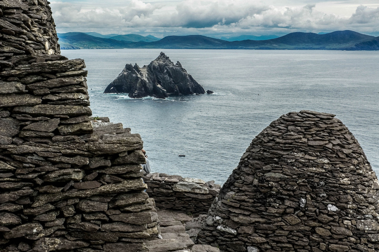 The view towards the mainland and Little Skellig.