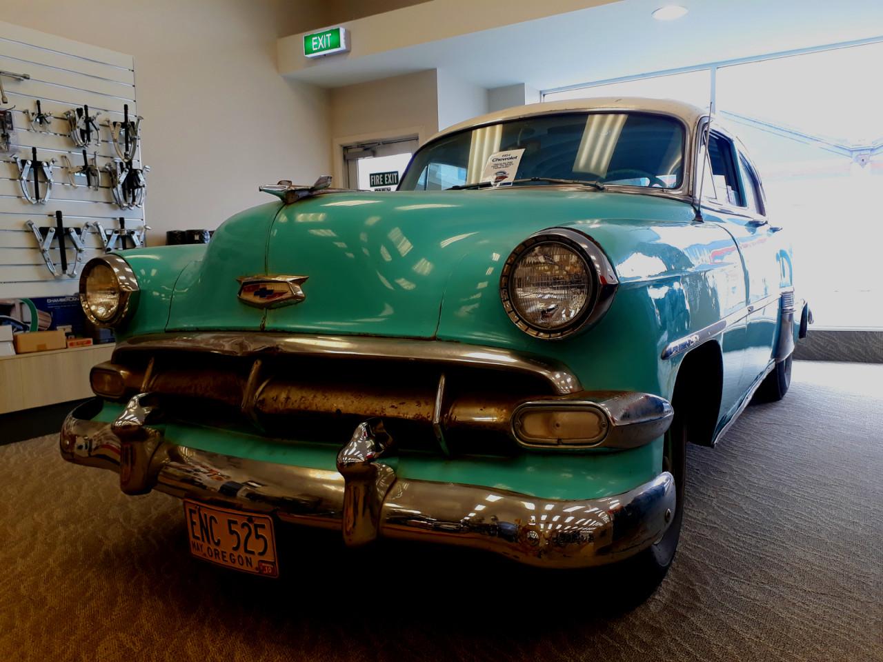 The movie car, a 1954 Chevrolet.