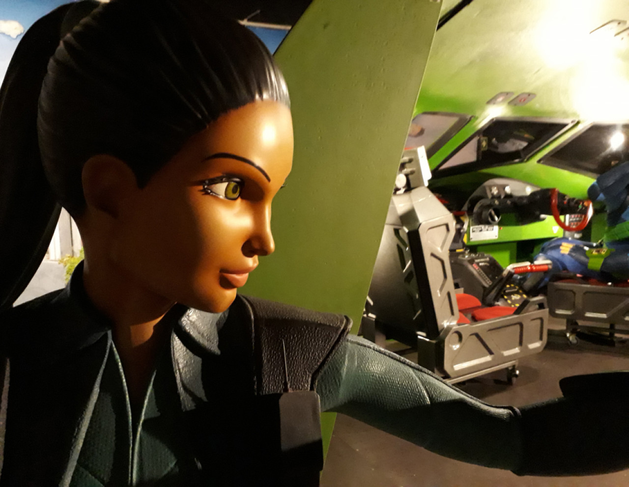 Have your photo taken with Lady Penelope Creighton-Ward, the heroine of the show, or pose in the life-size cockpit of one of the Thunderbirds.