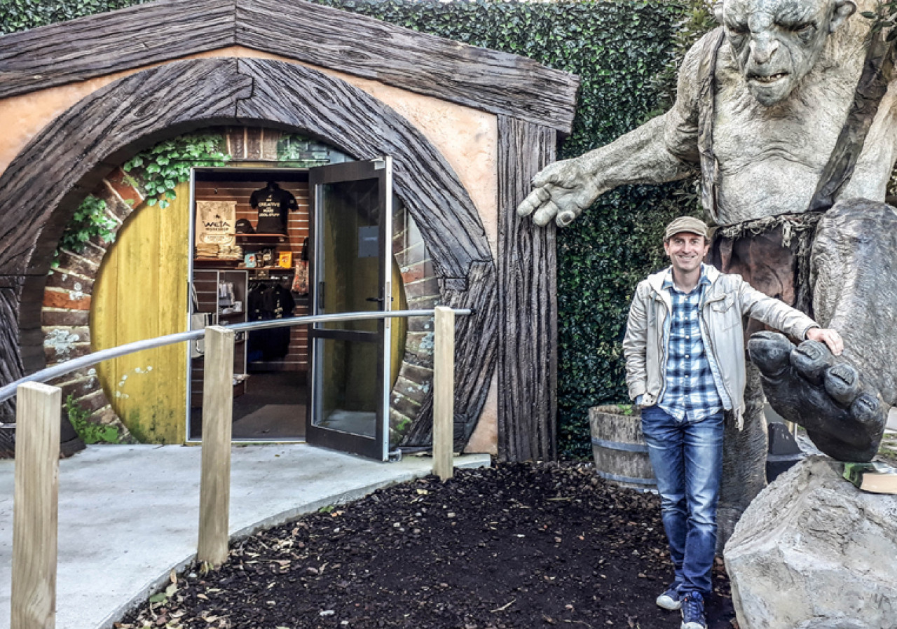 The entrance to the Weta Cave.
