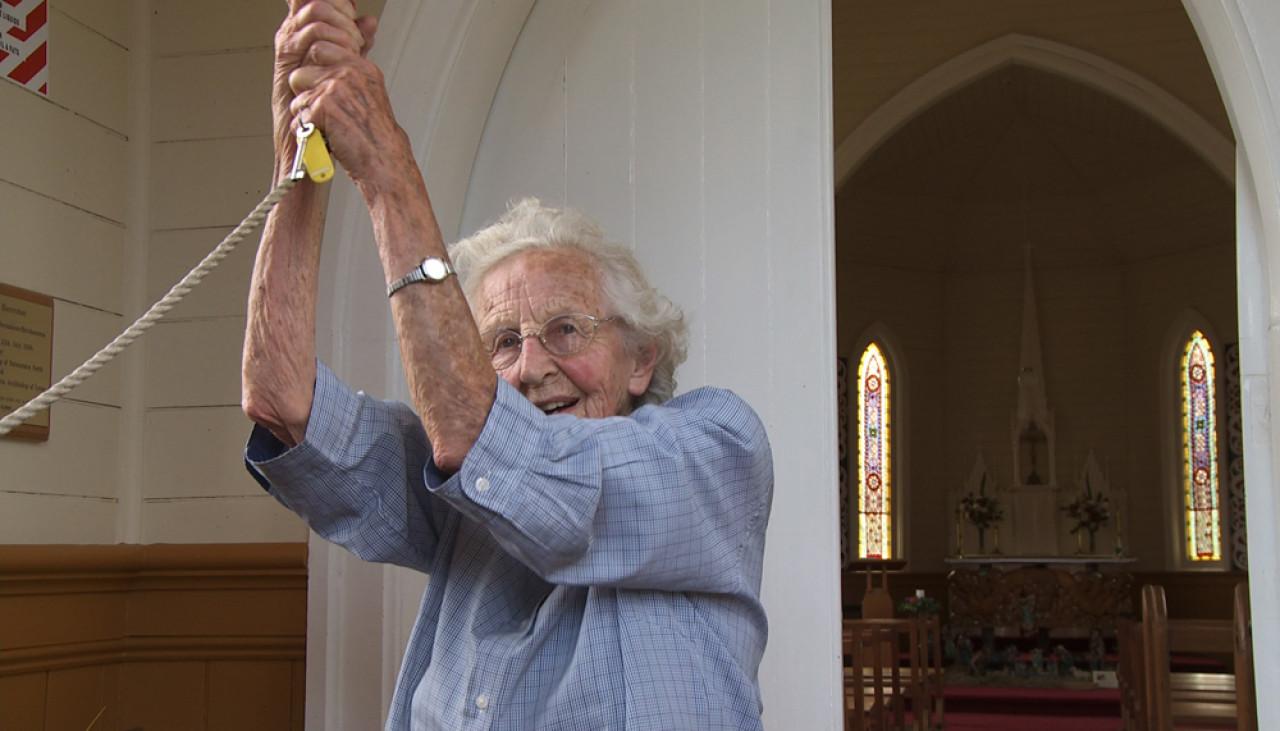 Sister Anna Maria Shortall, then 94.
