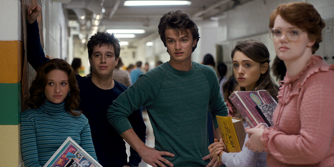 Steve and Nancy with Barb before her disappearance in Season 1.