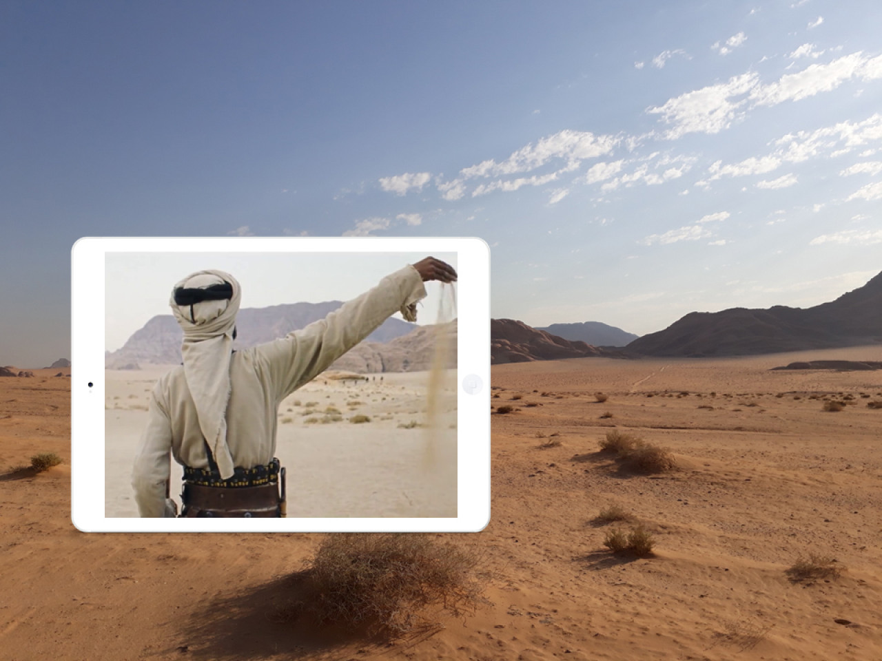 Marji signals the Bedouin warriors in the distance. Are they friend or foe?