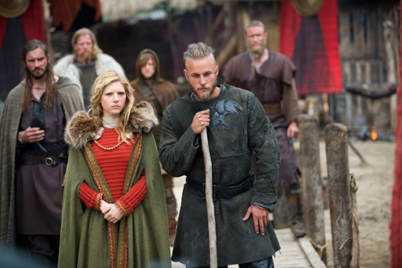 The famous Viking king Ragnar Lothbrok and his wife Lagertha in Kattegat.