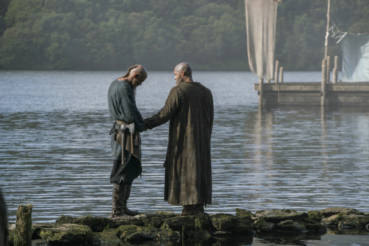Ragnar and his best friend, the boat builder Floki.