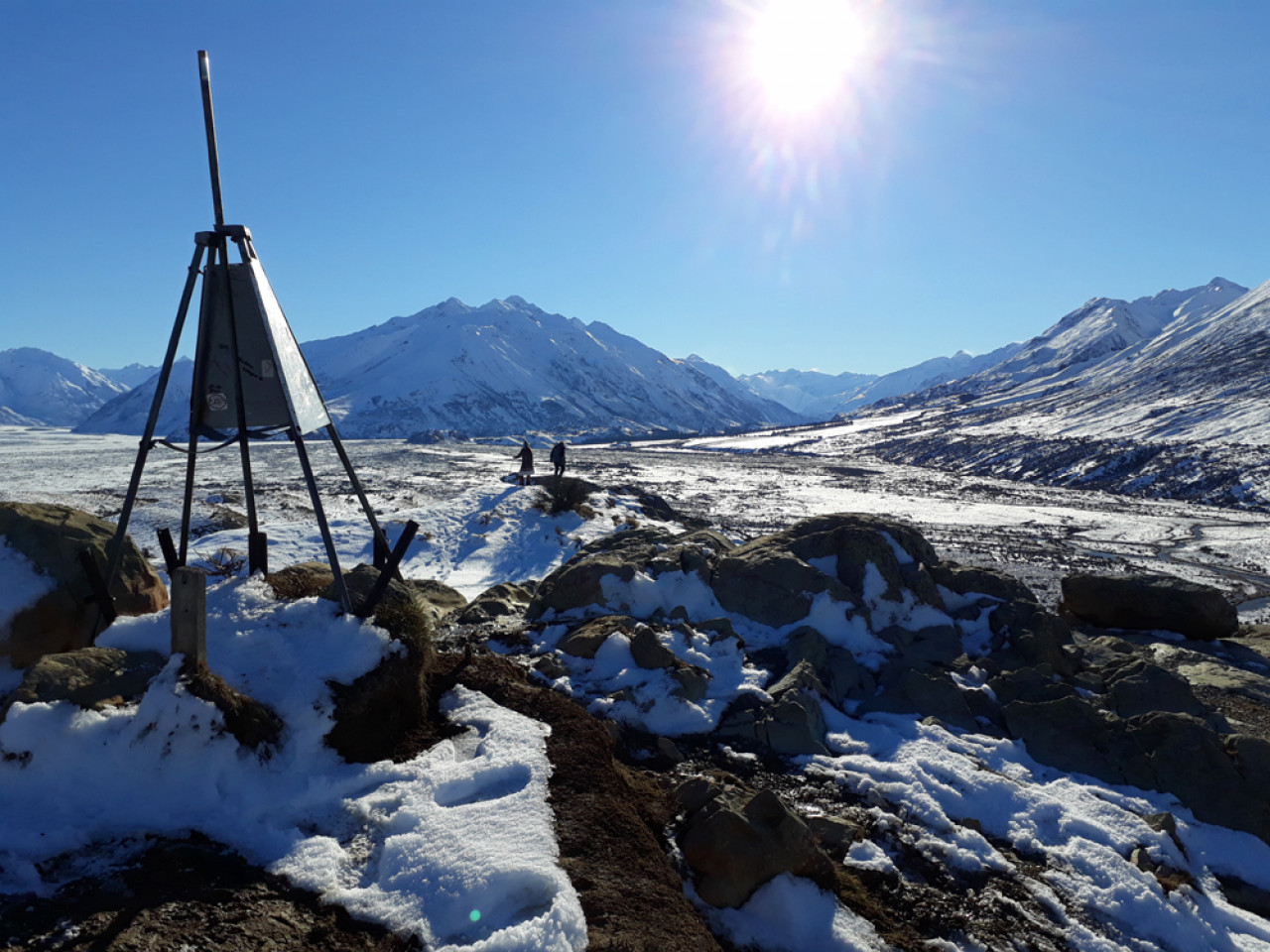 The summit of Mount Sunday.