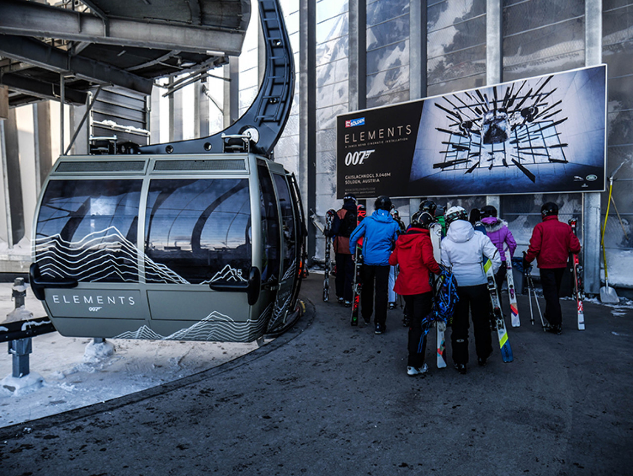 The second cable car ride has a number of Spectre-themed gondolas. As soon as we were out of the station, the movie soundtrack started to play. What an incredible way to approach a location.