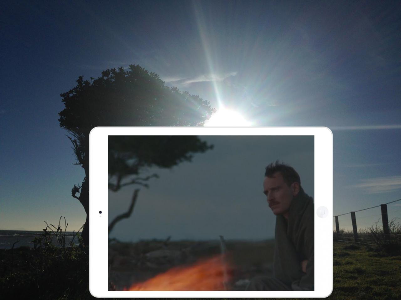 Tom Sherbourne alone on the island of Janus.