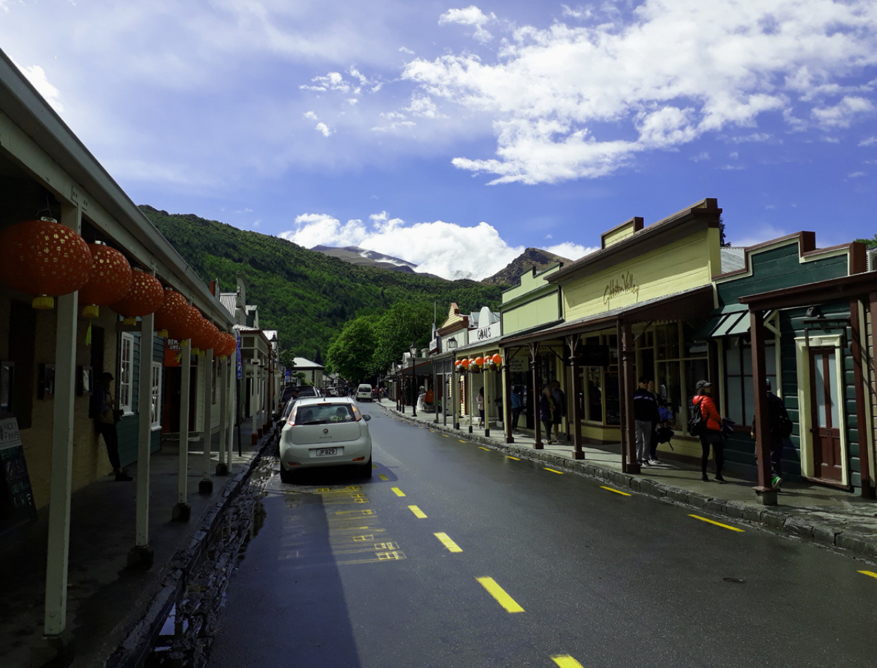 Arrowtown's main street.