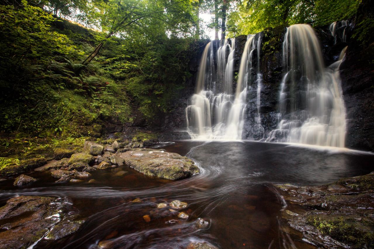 Glenariff Waterfall.
