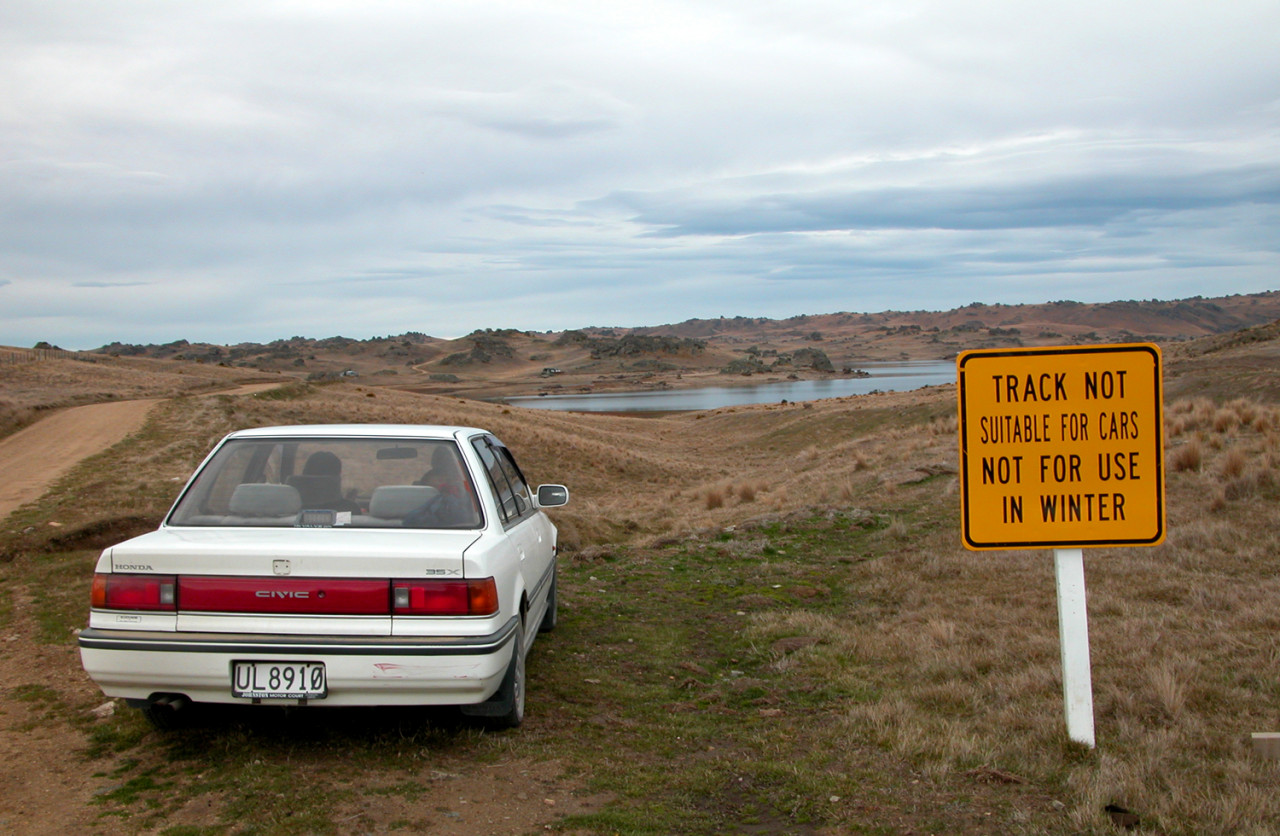 The Poolburn Reservoir is accessible by car from the Ida Valley, but the road is very rough in places.