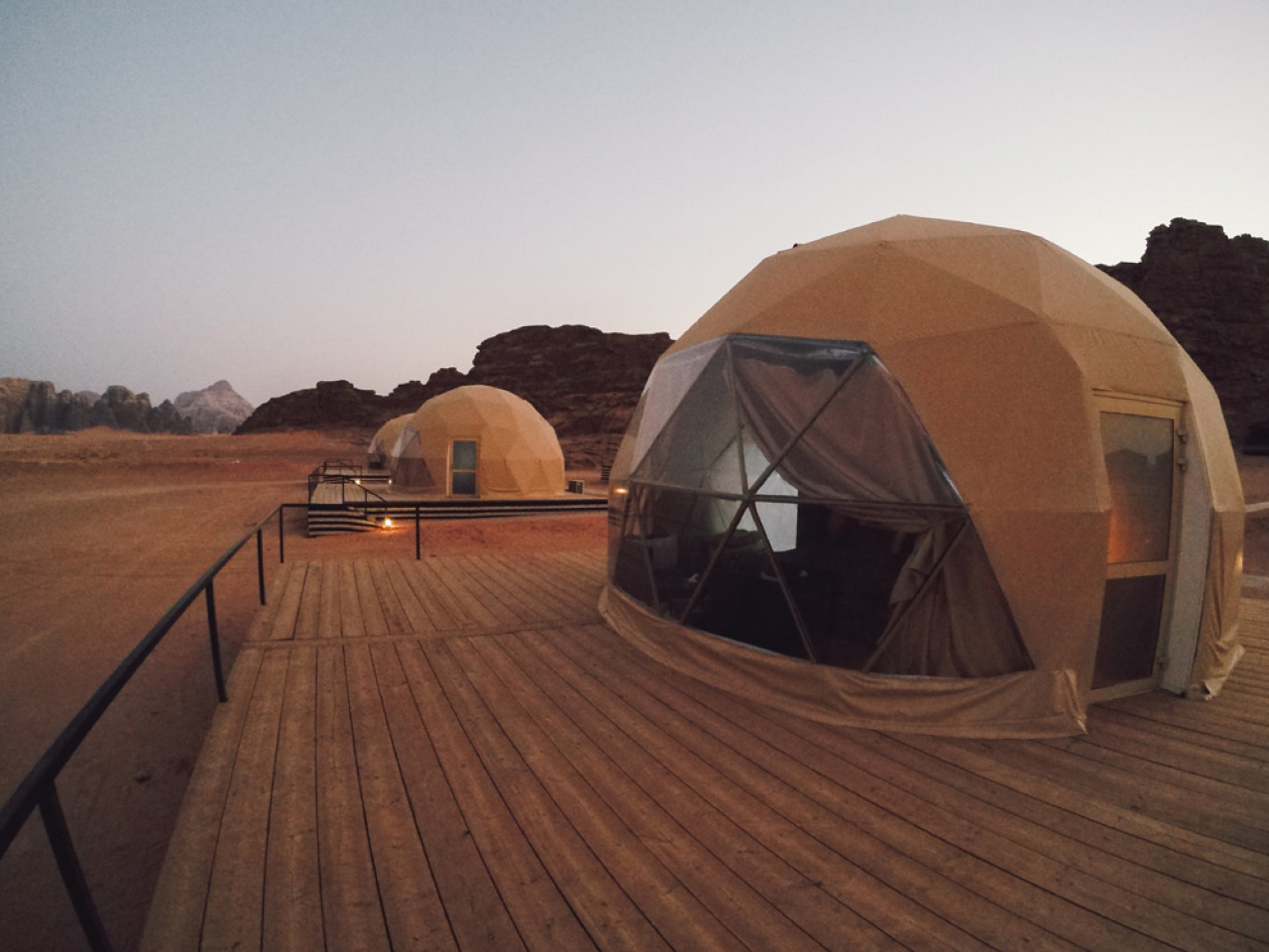We reached the Sun City Camp just a few moments before it got completely dark and checked in to our Martian tents.