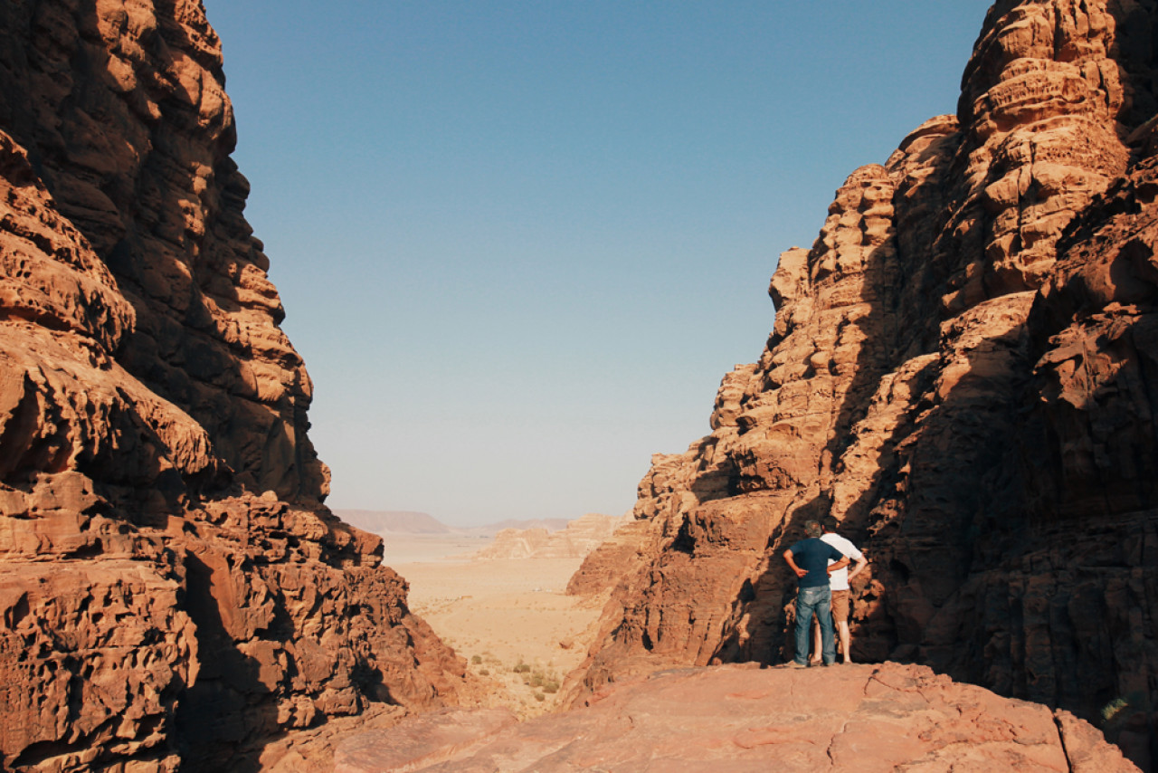 When you say desert, people often think endless sand dunes. Wadi Rum is different - rugged and more scenic.