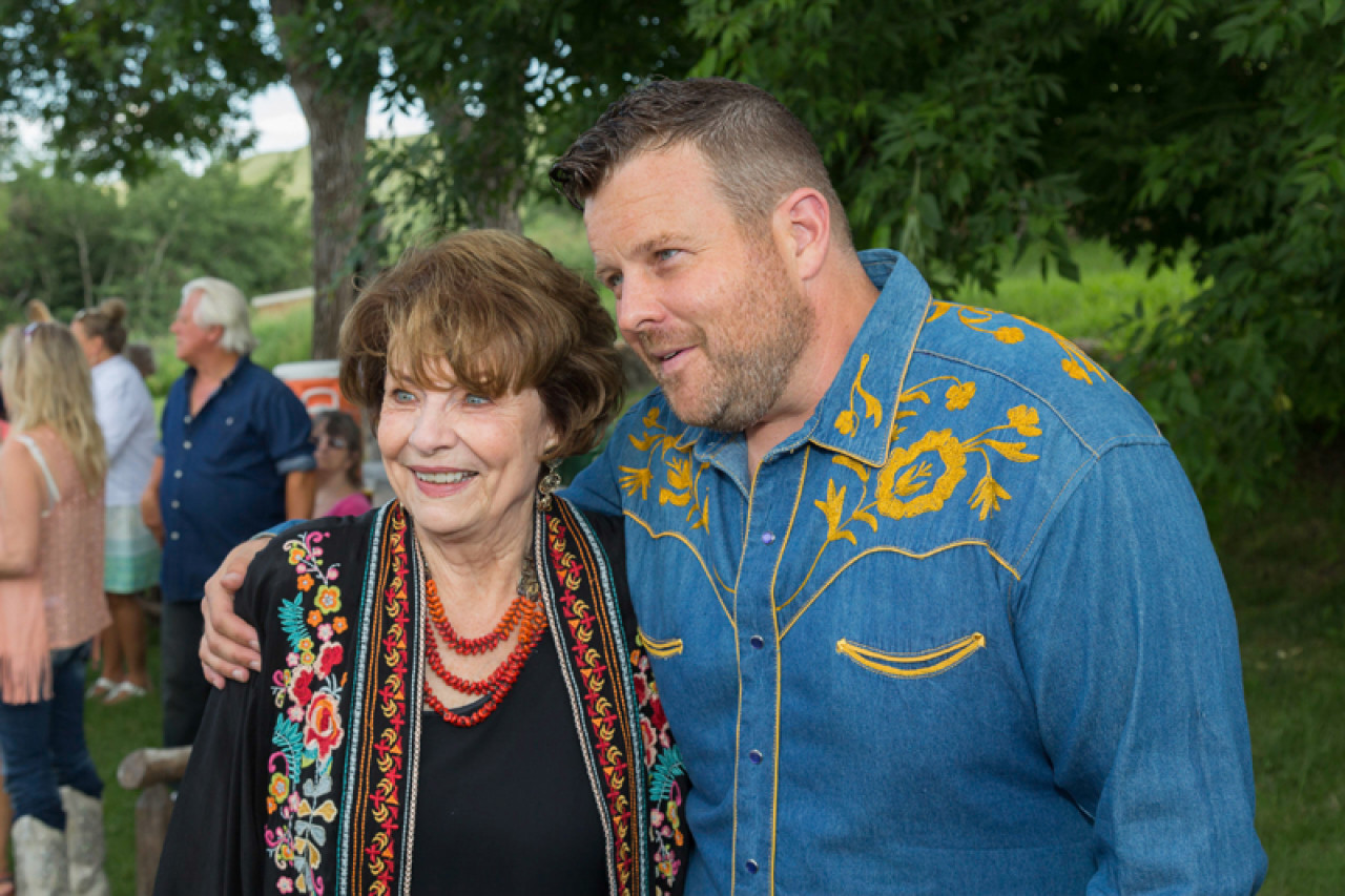 Actors Louanne Stephens (Ruby) and Adam Bartley (The Ferg) at the 2019 Longmire Days.