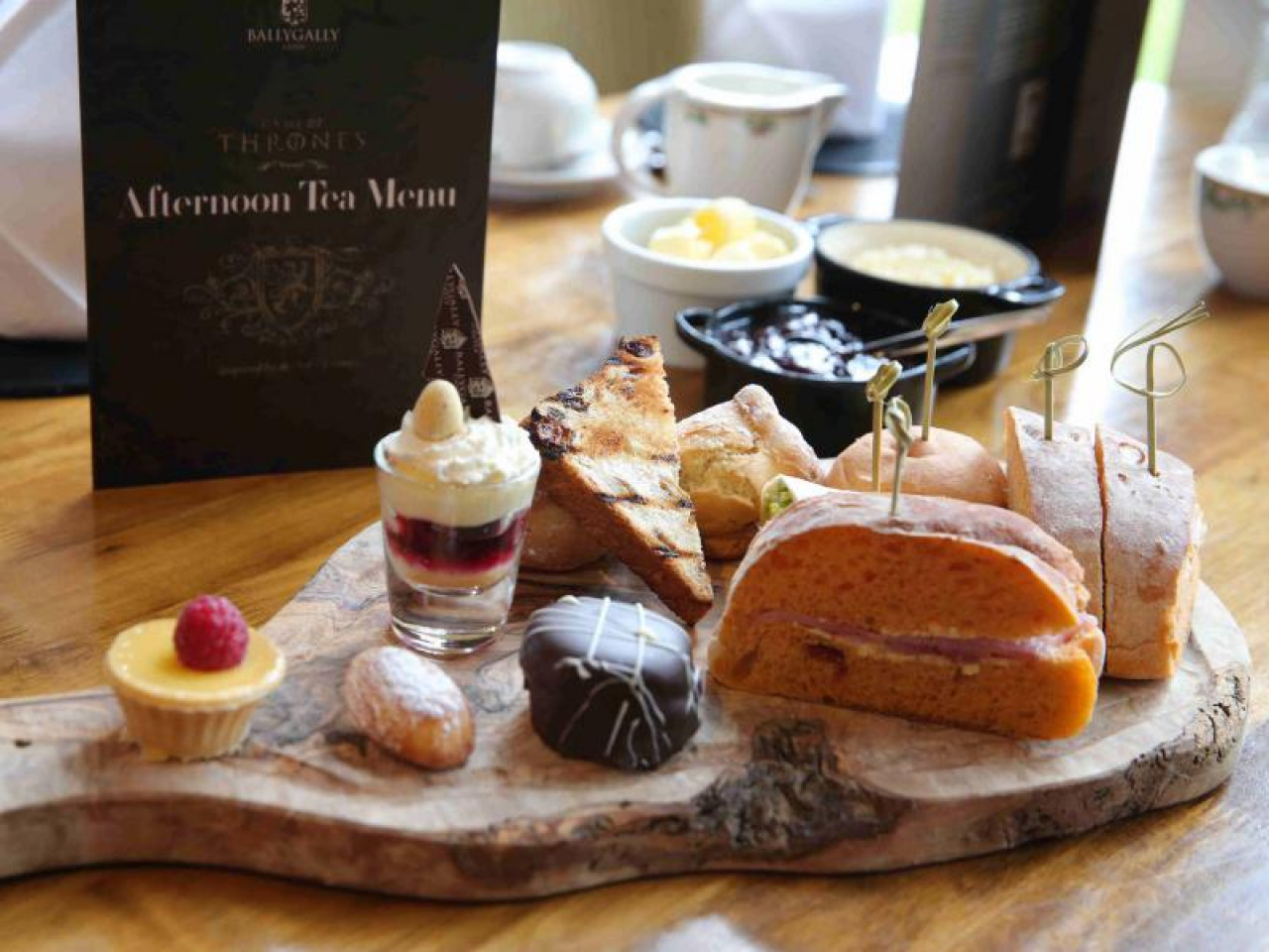 Our Game of Thrones-inspired afternoon tea consisted of treats like Hodor's Pulled Pork Brioche and Sansa Stark's Lemon Cake. An important ethos of the hotel is to use local food and promote local businesses.