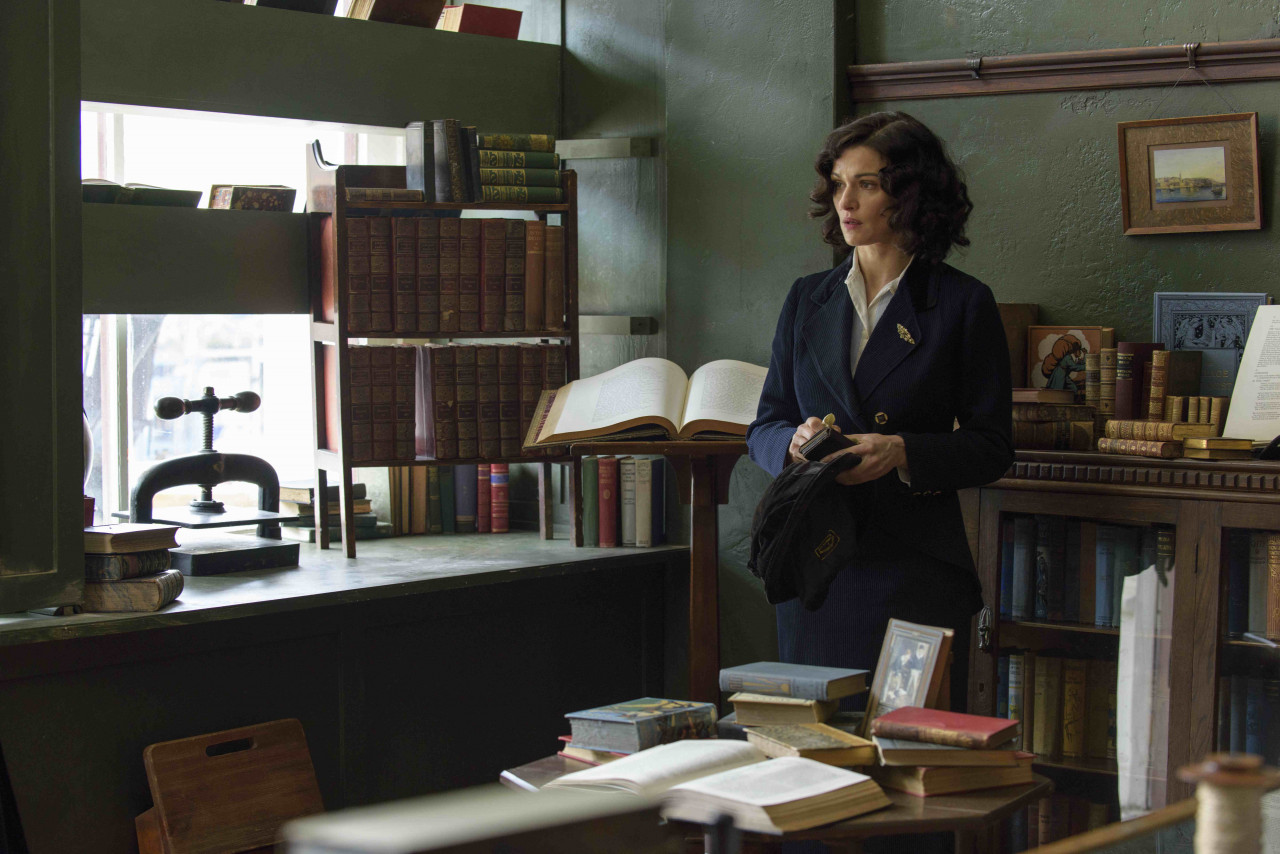 Rachel Weisz as Hannah Roennfeldt inside the refitted Port Chalmers shop.