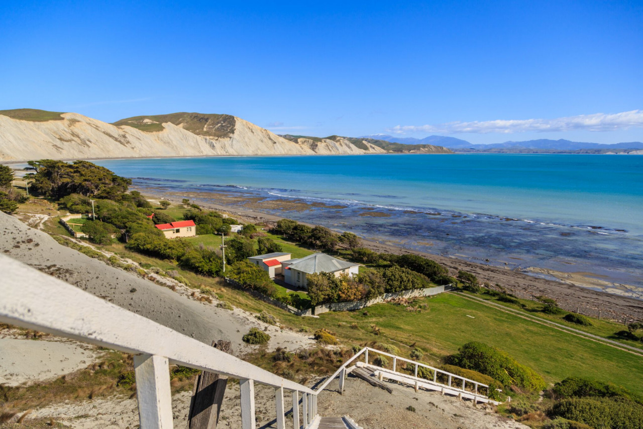 The LBO cottage is the one nearest the lighthouse steps.