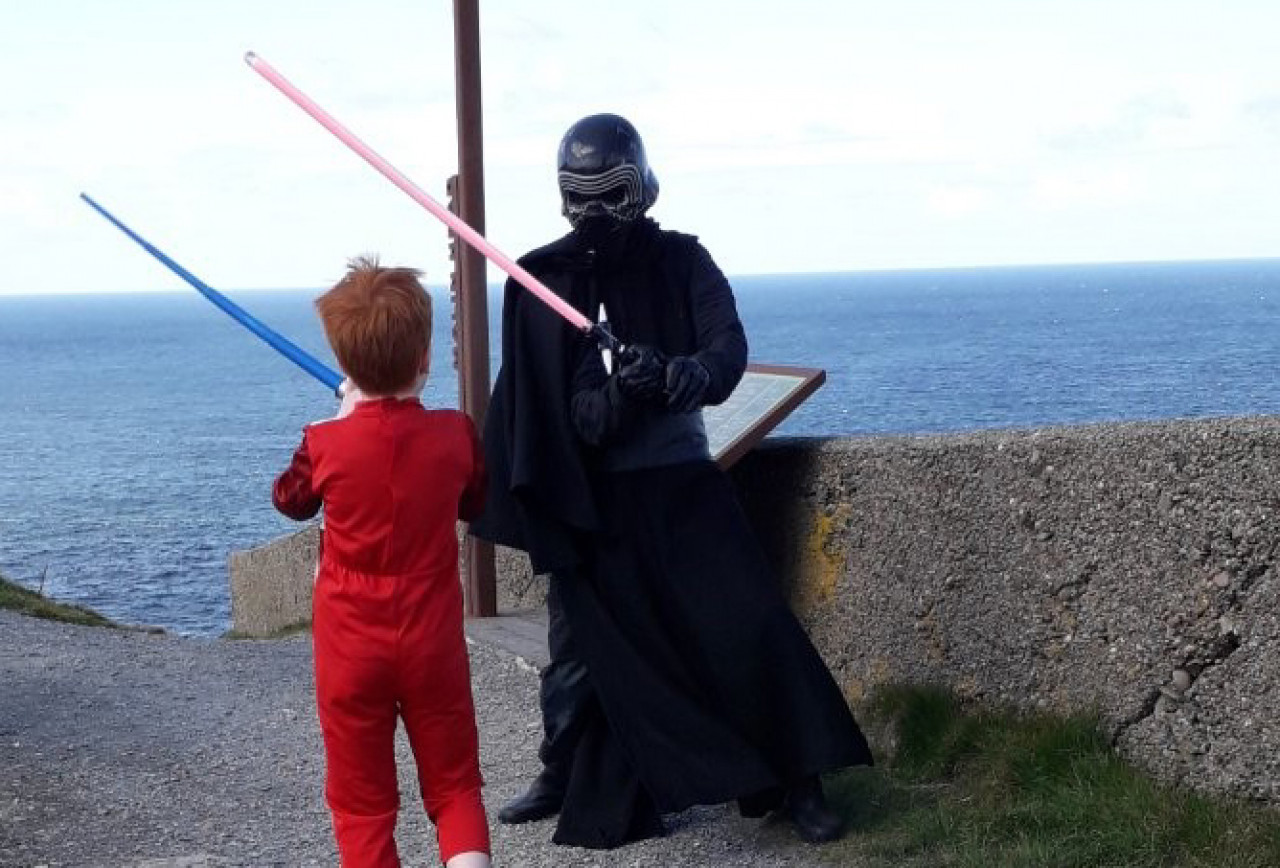 Kylo Ren met his match at Banbas Crown, one of the stops along the Ahch-To Way guided tour in Malin Head.
