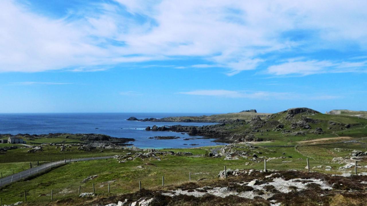 Ineuran Bay, Malin Head, home of the Millennium Falcon set.