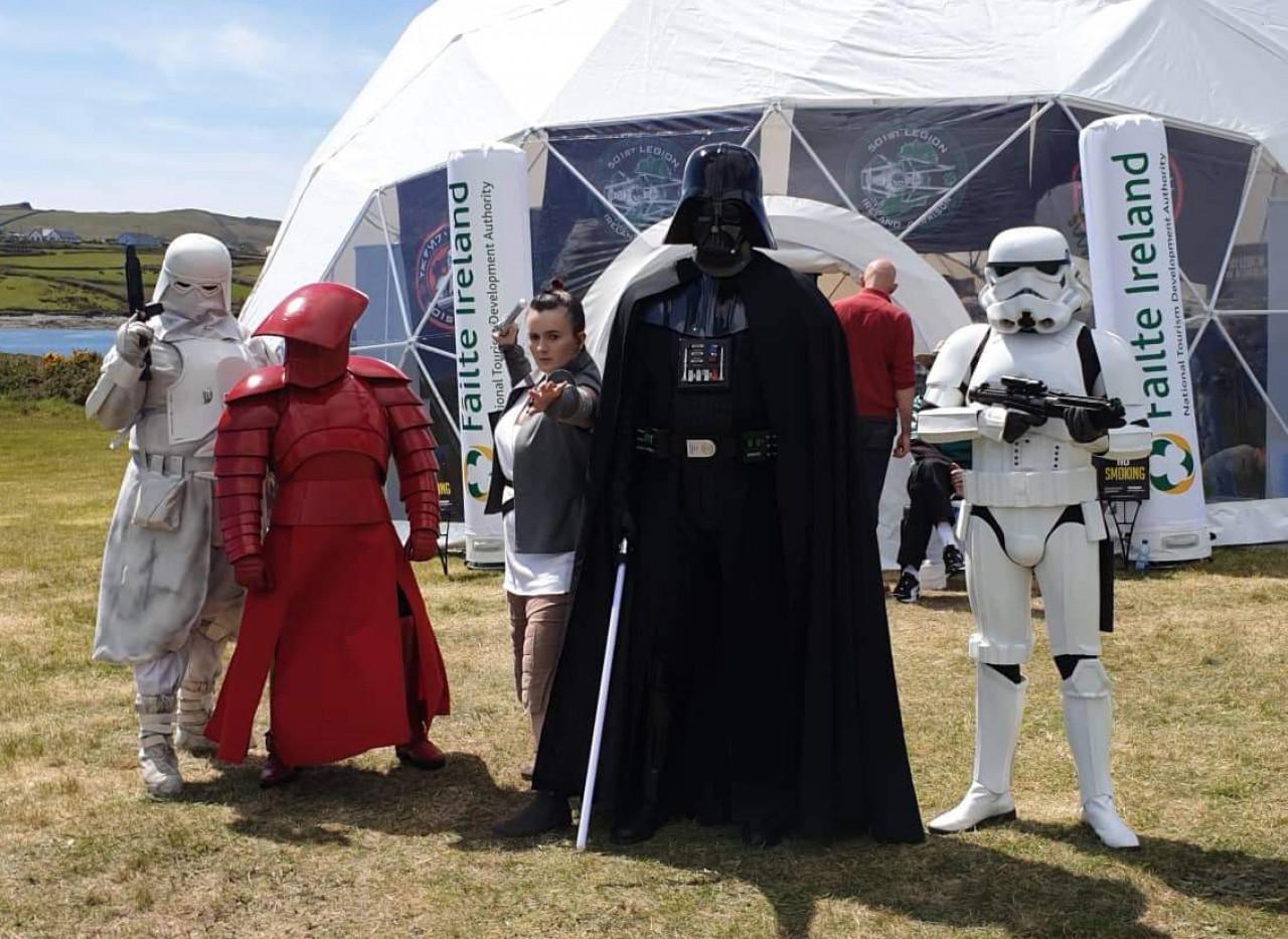 Darth Vader and Rey meeting at Kerry, Ireland.