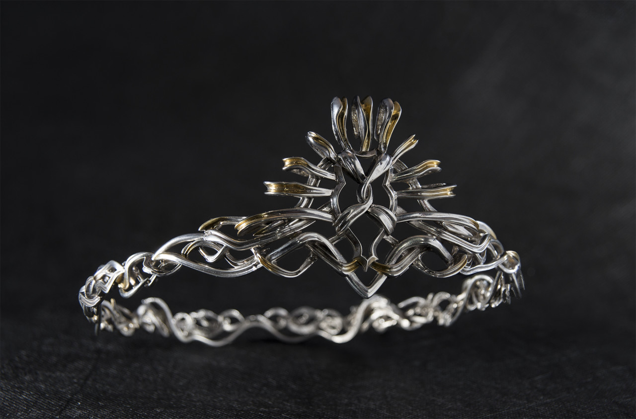 Brona designed Cercei's crown using CAD technology but crafted it with traditional silversmithing techniques