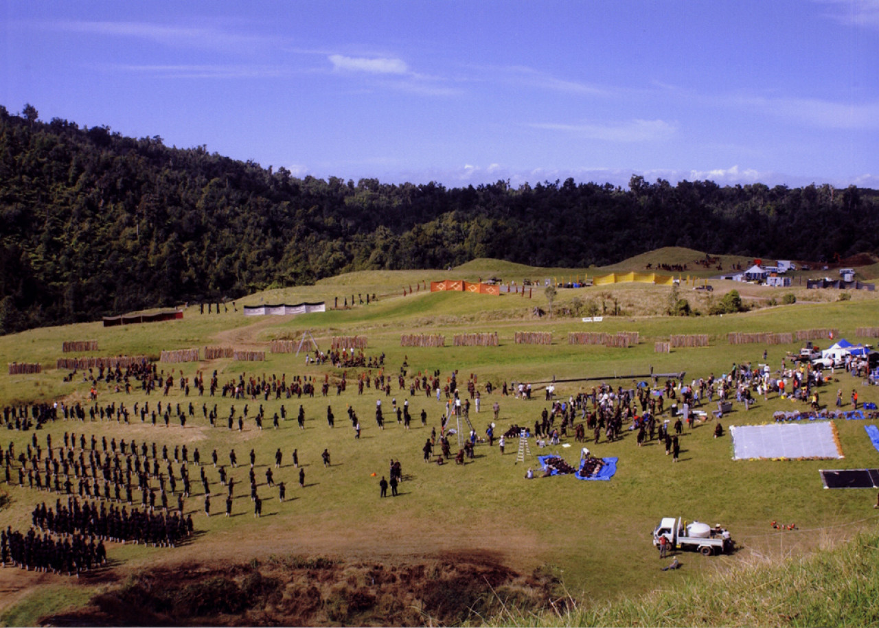 The location of the final battle during the filming of The Last Samurai. Over 500 Japanese extras were flown in from Japan for these scenes.