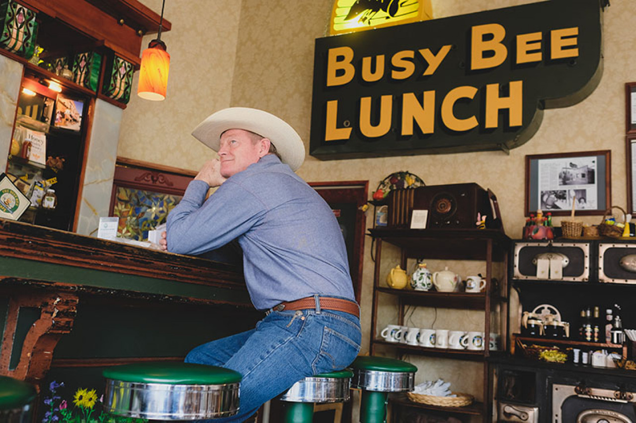 The Busy Bee Café is Walt's regular hangout spot in the books.