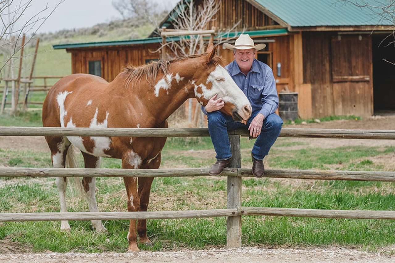 Craig's ranch sits at the foothills of the majestic Big Horn Mountains.